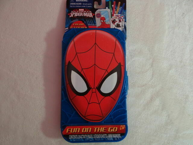 Marvel Spider man Color n Sticker Activity