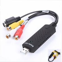 Easy CAP USB Video Capture Adapter VCR VHS PAL Audio to PC S-video For Windows