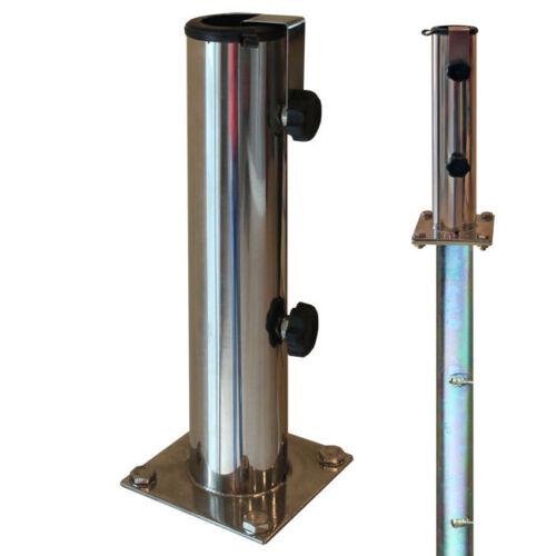 Sonnenschirmständer für Bodenmontage für Schirmstöcke Ø 32-48 mm Edelstahl