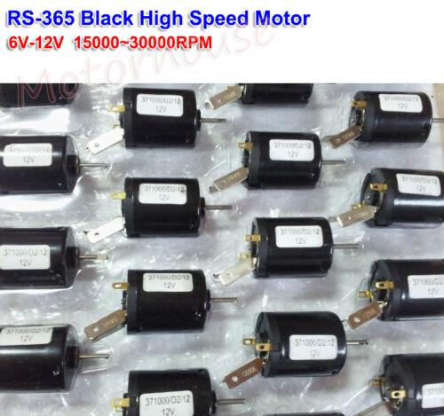 DC 6V 12V 30000RPM High Speed Mini RS-365 Motor D Shaft RC Toy Car Hobby Motor
