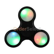 LED Light-Up Flashing Assorted Fidget Tri-Spinner Anxiety & Stress Relief Toy