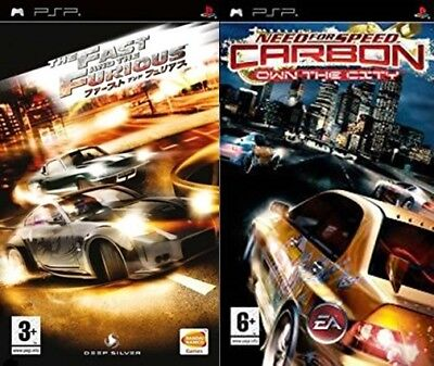 The Fast And The Furious Need For Speed Carbon Own The City Psp Pal Ebay