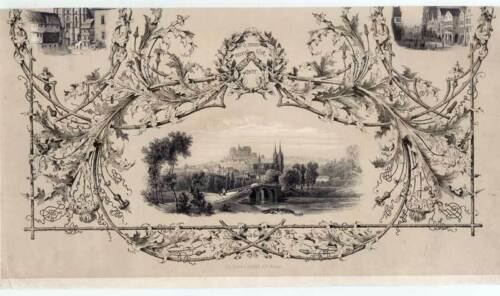 Marburg - Seltene Ansicht - Lithographie um 1840