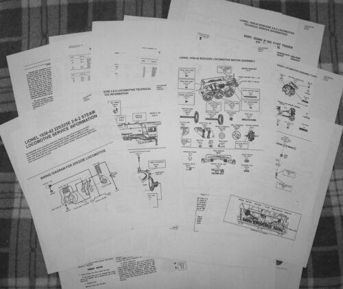 Lionel 1938-42 225//225e Prewar Loco//2235 Tender  Service Information