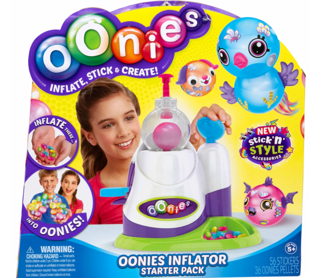 NEW IN BOX Moose Oonies Inflator Starter Pack Kit Set New Stick n Style Bubbles