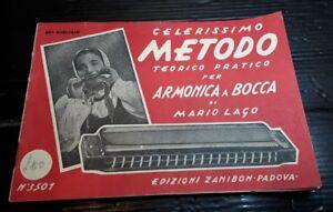 1954 Edizione Zanibon Padova Metodo Teorico Armonica A Bocca Di Mario Lago [f21] De Bons Compagnons Pour Les Enfants Comme Pour Les Adultes