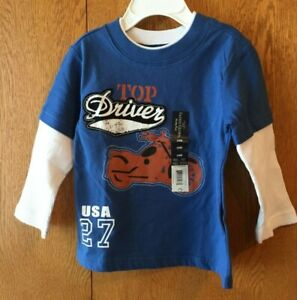 Infant-Boy-039-s-Blue-Print-LS-T-Shirt-Size-18M-New