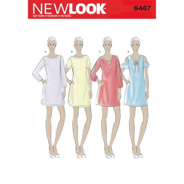 LOOK Shift Dresses With Neckline Sleeve & Hem Variations Sewing ...