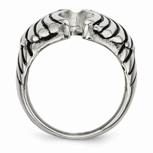 Chisel Stainless Steel Men/'s Polished and Antiqued Wings Ring