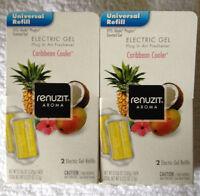 4 Renuzit Electric Gel Plugin Refills Caribbean Cooler (2 Boxes = 4) Plug In
