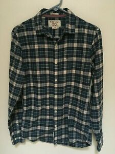 Penguin-Mens-Heritage-Small-Slim-Fit-Blue-Plaid-Flannel-Long-Sleeved-Shirt