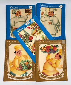 Vintage-Meyercord-Decals-Chefs-Kitchen-Images-You-Pick-Mid-Century-Modern