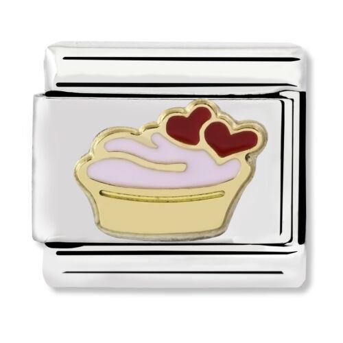 Original NOMINATION Clásico Muffin Esmalte /& Encanto de Acero 030285//02//22 £ PVP