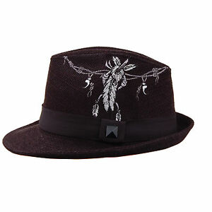 Image is loading Unique-Solitary-Boundary-Embroidered-Fedora -Trilby-J2R-JRJ037- e1cef80618e