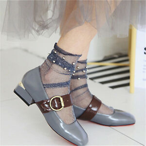 Ladies-Girls-Lace-Socks-Vintage-Style-Socks-Flash-Ruffle-Lace-Dance-Ankle-Socks