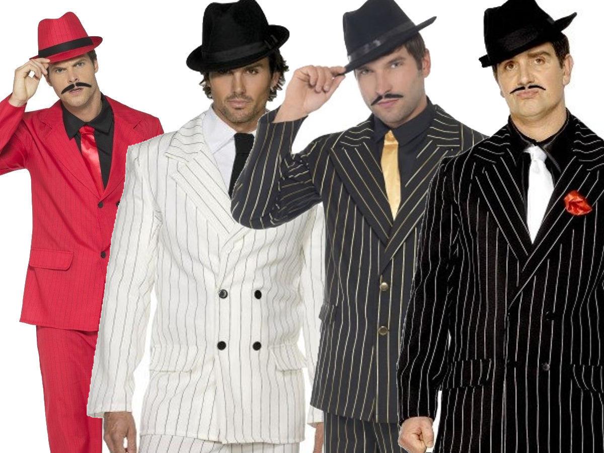 Gangster Costume 1920s Mens Fancy Dress Outfit 20s Zoot Suit Suit Suit Adults New M-XL | Verkaufspreis  143ae0
