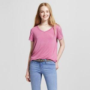 3fe6bcd36 Women's Softest V-Neck T-Shirt - Mossimo Supply Co. Fuchsia Size XS ...