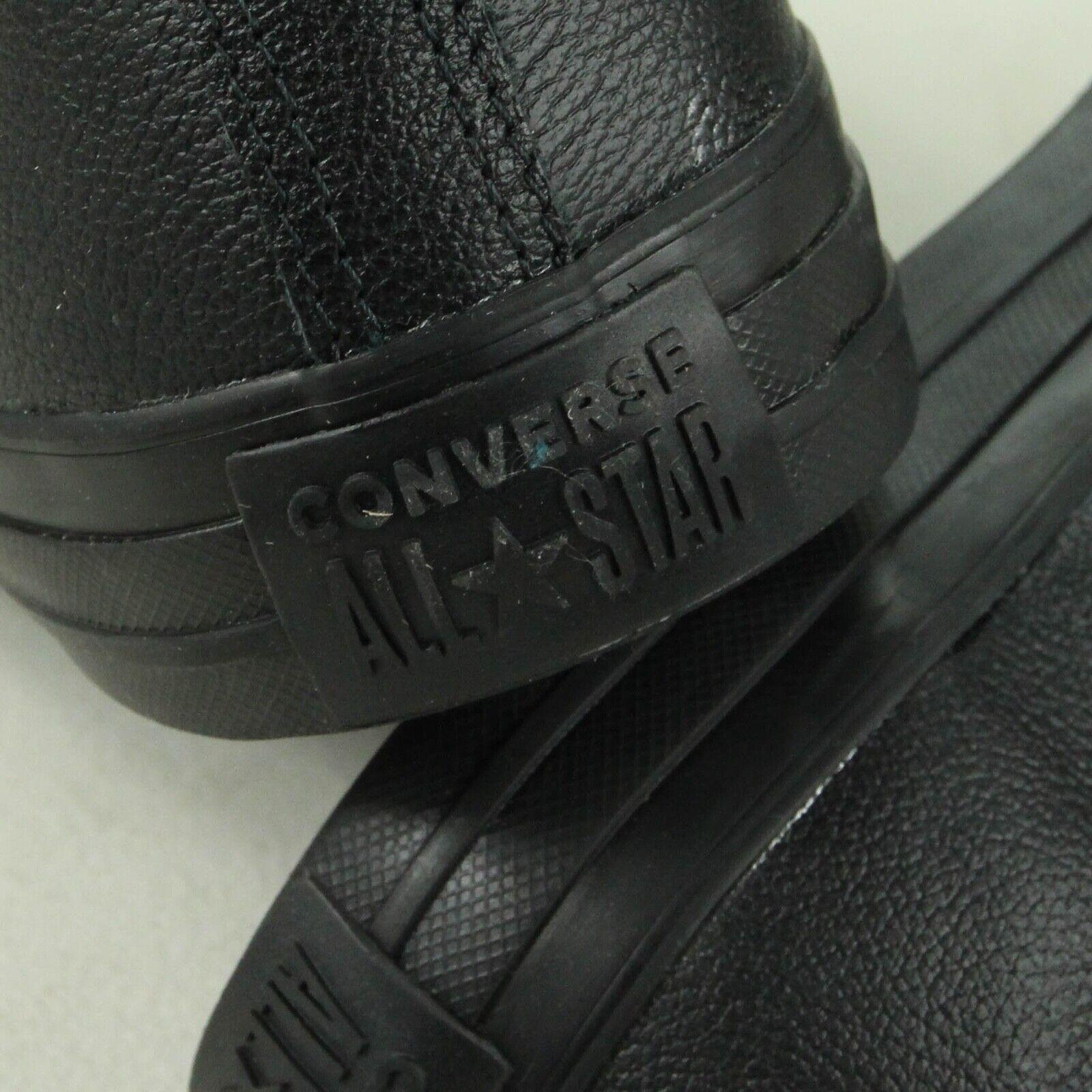 Converse Star Ox In In In Pelle All In Nero scarpe da ginnastica d50a3e
