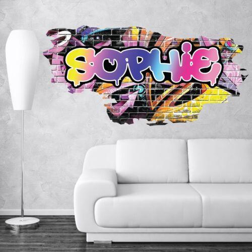 CUSTOM GRAFFITI  NAME TRANSFER BRICK WALL STICKER ART MURAL DECAL WSDPGN108