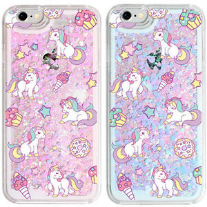 hot sale online 29efc 0f27e Details about Unicorn Glitter Case iPhone 6/6S Case iPhone 6/6S Plus Case 2  Colors Case Liquid