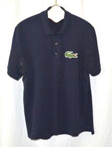 A imagem está carregando Camisa-Polo-Lacoste-Azul-Marinho-100-Algodao-Manga- 2148bb30498ff