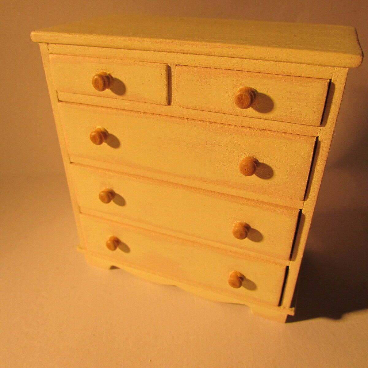 Chest of Drawers  WOODEN  Dolls House Miniature  1 12 scale