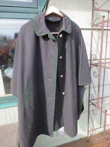 baratas para descuento 8a161 61ffd Detalles de Vintage Europeo Bekla 100% Gris Carbón Lana Capa / Abrigo -  Austriaco Moderno