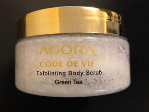 NEW-Agora-Code-de-vie-Exfoliating-Body-Scrub-Green-Tea-8-8-oz