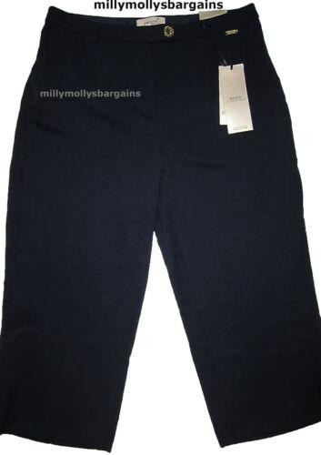 NUOVA linea donna Marks /& Spencer Una Roma Blu Per Wide Cut Crop Pantaloni Taglia 12