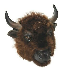 Buffalo-Masque-avec-Fourrure-Vache-Bull-Animal-Fete-Jeu-Accessoire-Deguisement