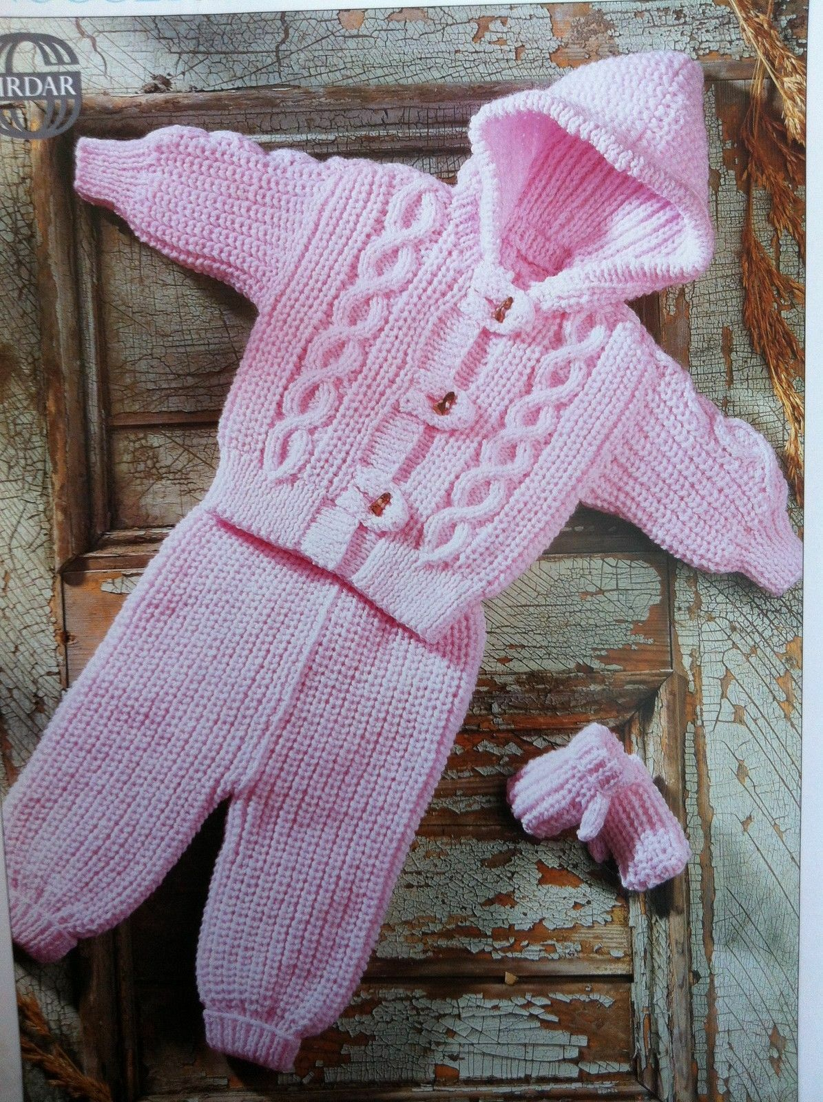 Aran Knitting Pattern With Hood : Baby/Childs Aran Hood Jacket, Pants and Mittens 18