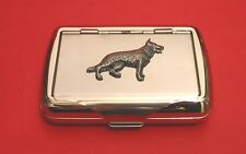 German Shepherd Tobacco Tin Trinket Box Alsatian Dog Smoker's Christmas Gift