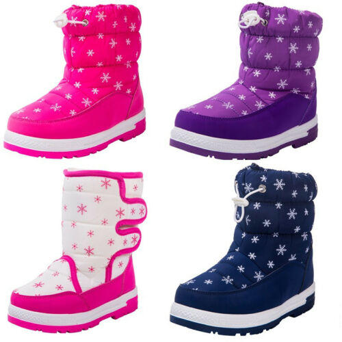 Boy/'s Girl/'s Outdoor Snow Boots Waterproof Winter Waterproof Fur Lined Kids