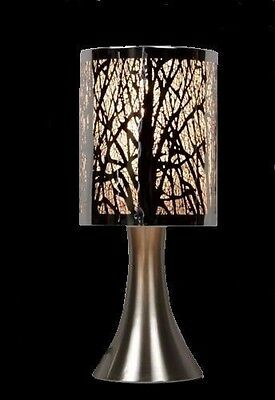 30cm Etching Touch Lamps for Bedside Table