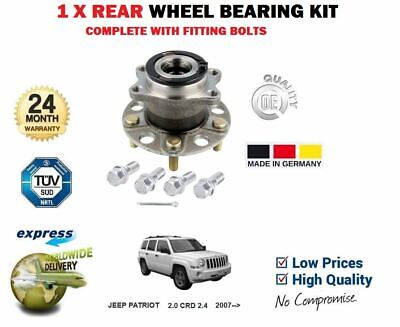 2008 fits Jeep Patriot Rear Wheel Bearing and Hub Assembly Note: 4WD - Two Bearings Left and Right Included with Two Years Warranty