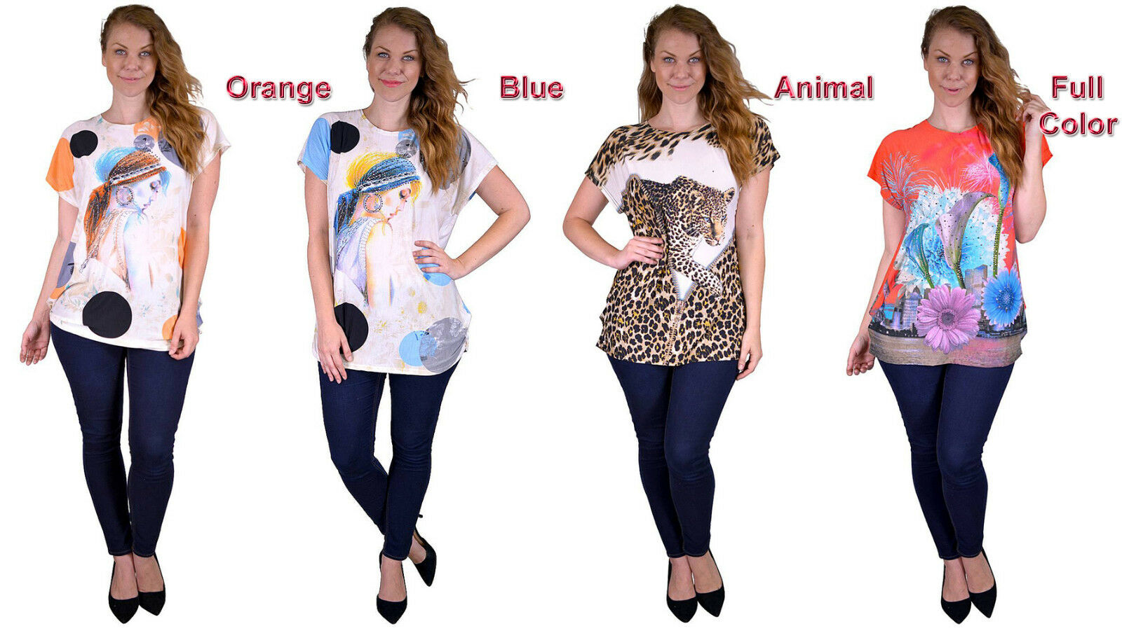 Summer Tops Plus Size OS Choice 4 Color Theme Must see!