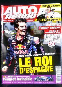 Auto Hebdo Du 12/5/2010; Mark Webber Le Roi D'espagne/ Wrc Nlle Zélande; Ogier Texture Nette