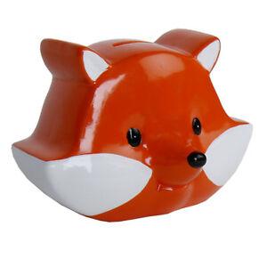 Spardose-Sparschwein-Sparen-Geld-Geschenk-Fuchs-034-EDE-034-Keramik-mit-Gummipfropfen