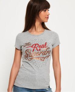 Image is loading New-Womens-Superdry-Rock-Rhinestone-T-Shirt-Grey- 9cb8dc4f506
