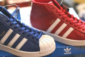Adidas-Unisex-shoes-Pro-Model-Blue-and-Red-Colors-Women-Boys-and-Girls-Sizes