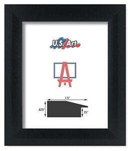 "US Art Frames 1.5"" Black Sloped Picture Poster Frames Geo friendly MDF, S-B"