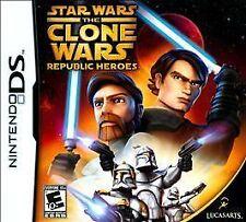 Star Wars: The Clone Wars - Republic Heroes (Nintendo DS, 2009) ds lite