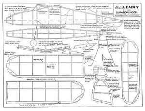 Confiant Skyleada Cadet Rubber Duration Model Plan Set