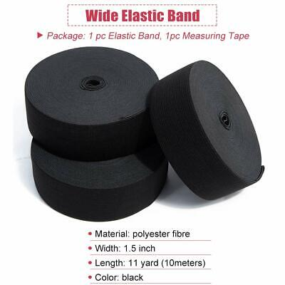 1.5 Inch Black Knit Elastic Bands for Sewing Wigs Clothes 11 Yards
