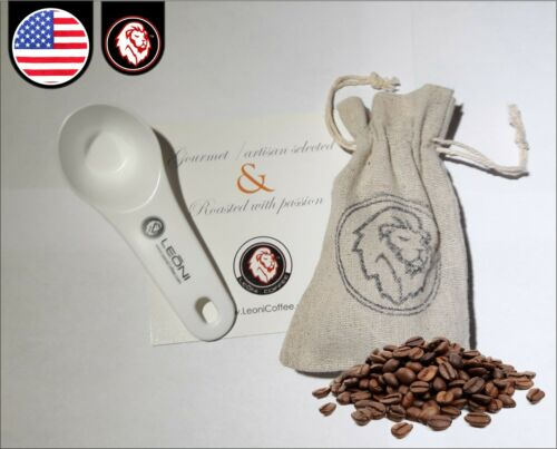 Coffee and Tea Measuring Spoon With Elegant Yute bag
