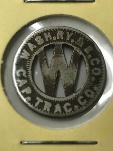 transit-token-Wash-Ry-Cap-Trac-Early-Good-For-One-Fare-Coin-Shipping-P6