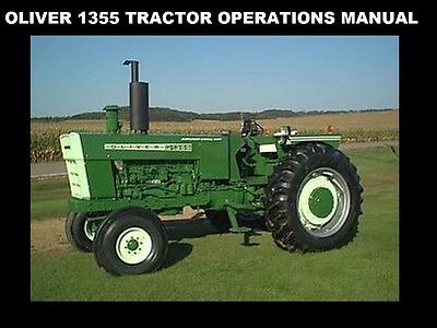 oliver diesel tractor wiring diagram oliver 1355 tractor operations manual for diesel maintenance  oliver 1355 tractor operations manual