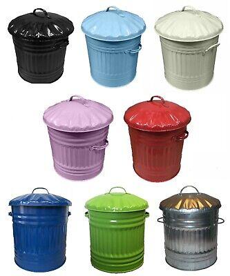 Cubo de metal 45 litros Midi Mini Basura Residuos Cocina Baño Dormitorio Color dustbi