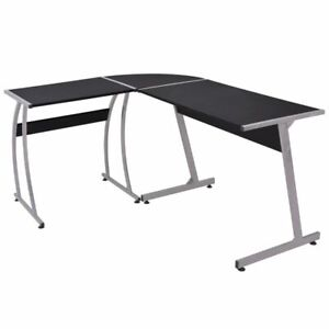 vidaXL-Corner-Desk-L-Shaped-Black-Home-Computer-Writing-Table-Workstation