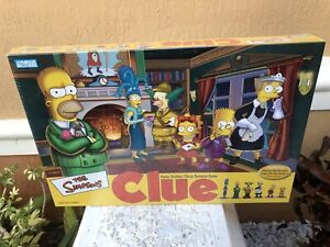 The Simpsons CLUE Board Game 2nd Edition 2002 Parker Brothers New